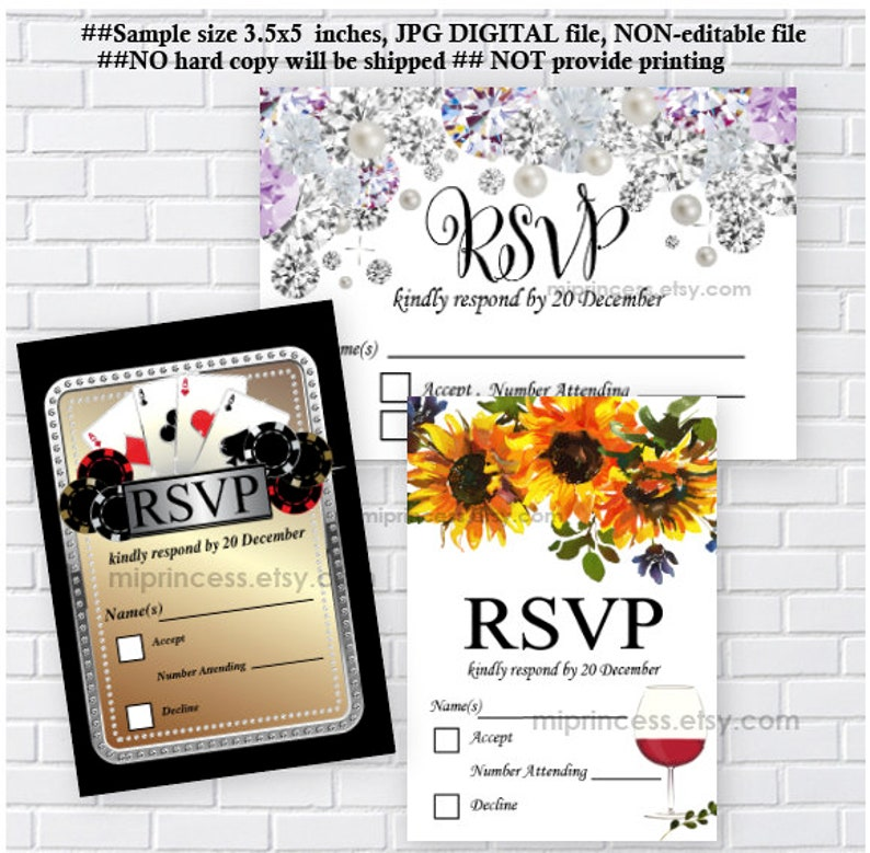 RSVP card Matching your invitation Reserved for someone image 0