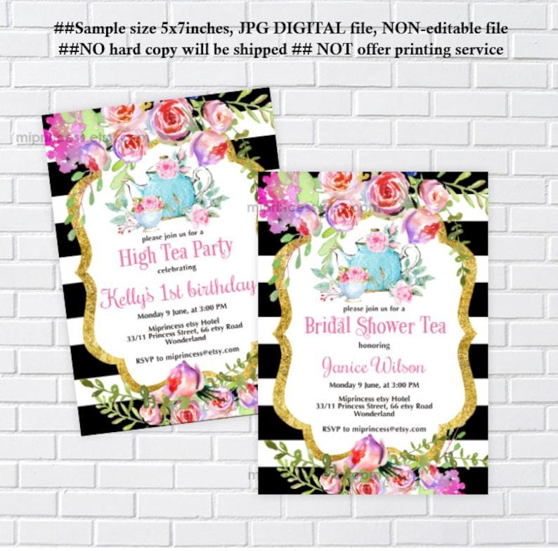 tea party invitation bridal shower tea baby shower tea high image 0