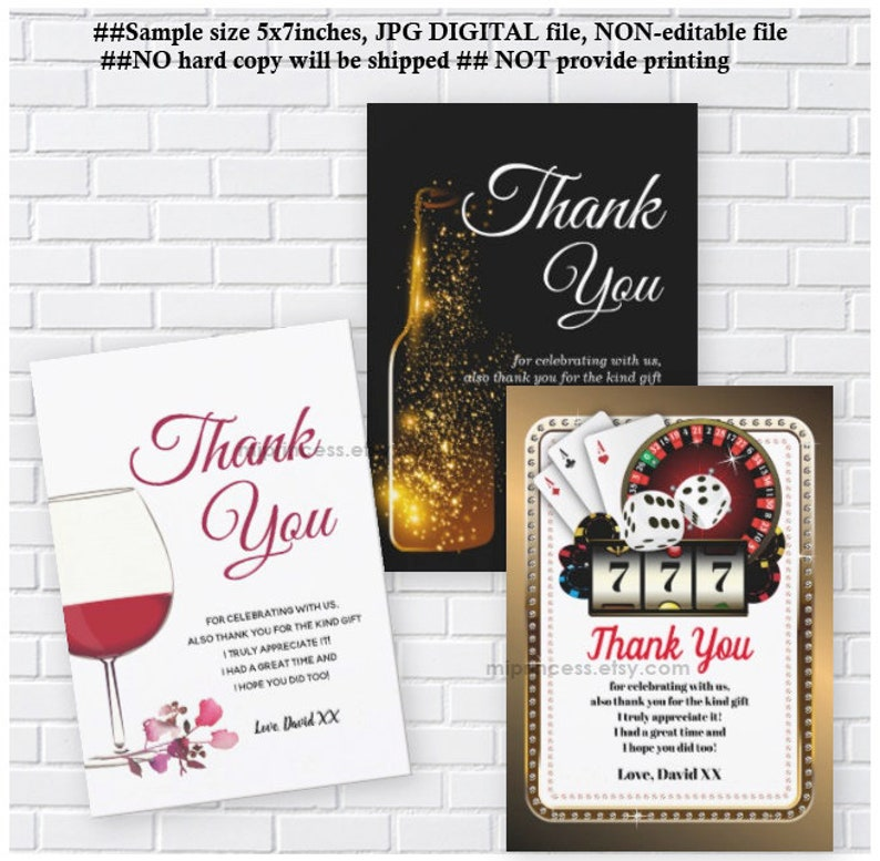 Thank You Card  Reserved for someone purchased invitation  image 0