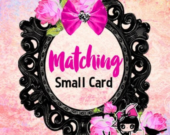 Small card Insert card infomation card book card- Reserved for someone purchased invitation  ADD ON option Matching 3.5x5inch