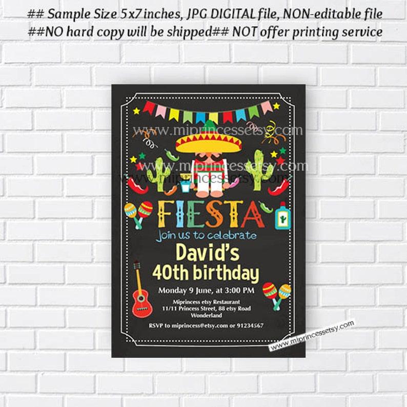 Mexico Birthday Invitation Mexican Fiesta Party Boy