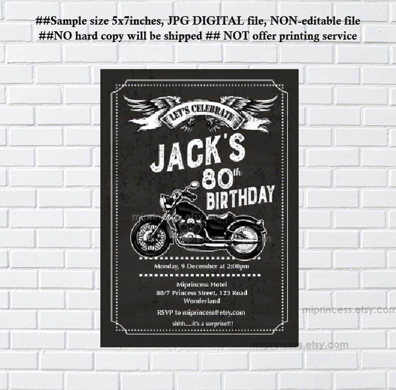 motorcycle invitation motorbike man birthday party boy party image 0