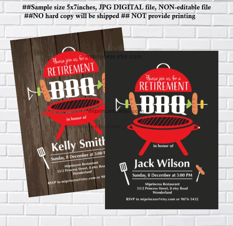 Retirement Bbq Party Invitation Retirement Party Bbq Invitation Rustic And Chalkbaord Invitaiton Design Fit Any Party Housewarming 408