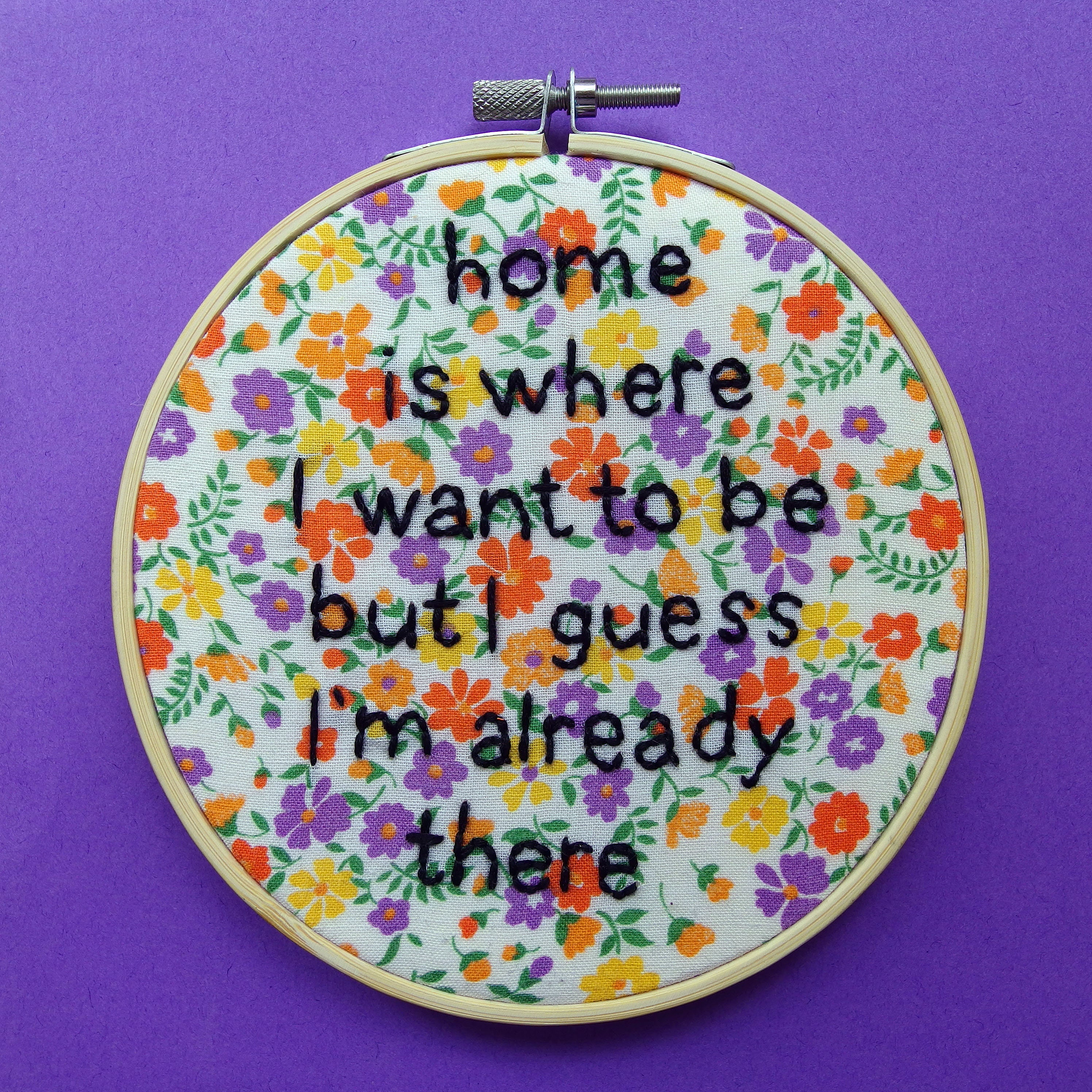 Home Is Where I Want To Be Talking Heads Lyrics Hand Etsy