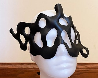 Venomous fashion Mask v3- Leather cosplay costume character party masquerade
