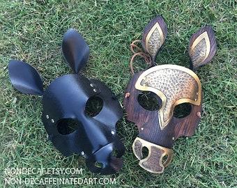 Leather Horse Mask MADE TO ORDER ... masquerade costume mardi gras halloween larp party ren fair