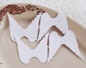 Paper Angel Wings - Embossed White Die Cut Dresden Paper Wings, 4 Pcs.