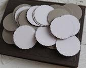 3-Inch Chipboard Craft Circles - Die Cut Serrated Edge Cardboard Rounds, 8 Pcs.