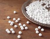 BULK Spun Cotton Balls, 10mm - Vintage-Style Craft Shapes, 100 Pcs.