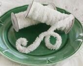 Wired White Yarn Trim - Fluffy Yarn Fur Craft Cord, 2 Yd. Spool