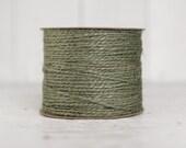 Jute Twine - 100 Yard Spool of Twine, 2-Ply Rustic Craft String, Moss Green