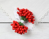 Holly Berry Stems - 144 Berries on 72 Wires