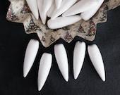 Spun Cotton Icicles - Vintage-Style Icicle Ornament Shapes, 5 Pcs.