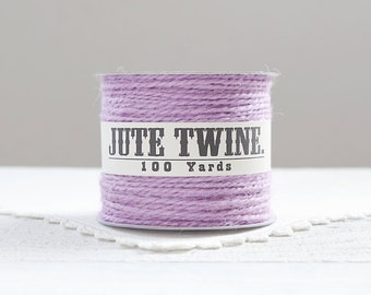 Jute Twine - 100 Yard Spool of Twine, 2-Ply Rustic Craft String, Lavender Purple