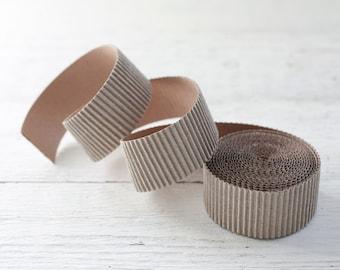 Corrugated Cardboard Roll - 4 Yards of 1.5 Inch Paper Craft Trim