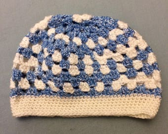 Child's Blue and White Hat ships free