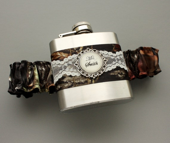Items Similar To Camouflage FLASK GARTER