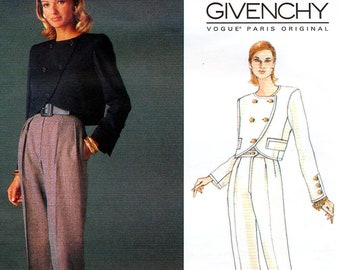 Vogue Paris Original 1526 Sewing Pattern by Givenchy for Misses' Jacket and Pants - Uncut - Size 8, 10, 12