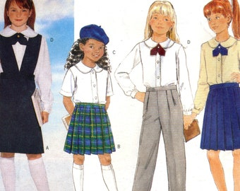 03d1b4f725 Butterick 5098 Back to School Sewing Pattern for Girl s Jumper