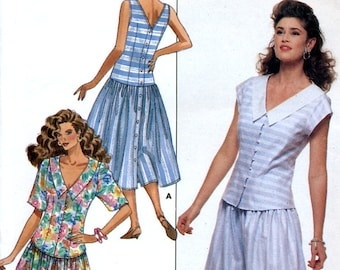 945cbde0c0 Butterick 6265 Sewing Pattern by Eileen West for Misses  Dress or Top -  Uncut - Sizes 6