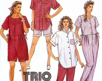 90695c652e McCall s 4844 Vintage 90s Sewing Pattern for Misses  Maternity Jumpsuit