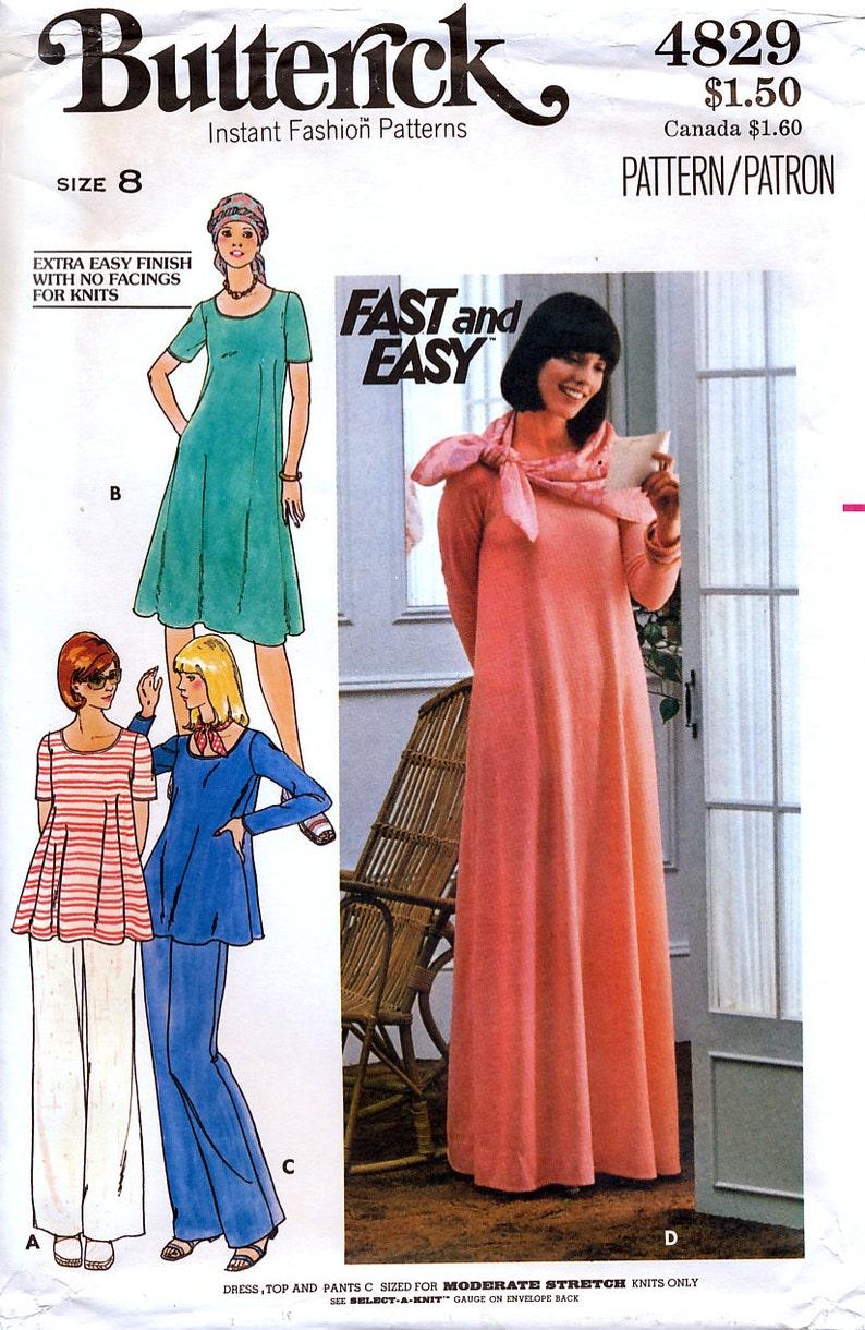 7530c8f88 Butterick 4829 Vintage 70s Misses' Maternity Dress Top | Etsy