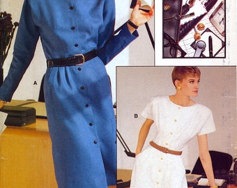 Vogue Career 7144 Sewing Pattern for Misses' Dress - Uncut - Size 12, 14, 16