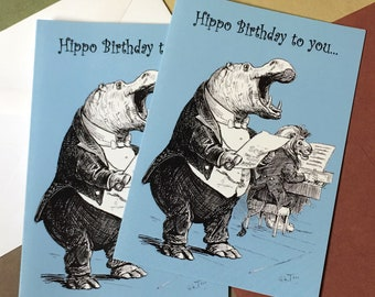 Hippo Birthday to You Note Card