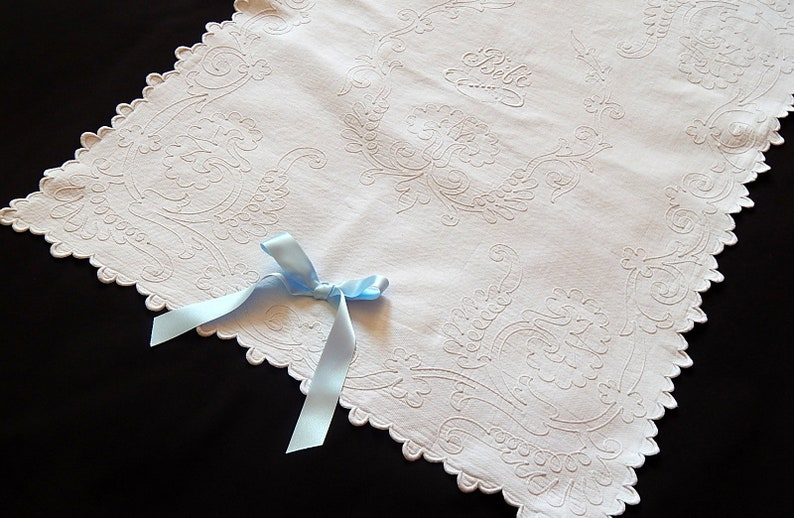 Reserved For Lili Vintage French Baby Coverlet For Crib Etsy