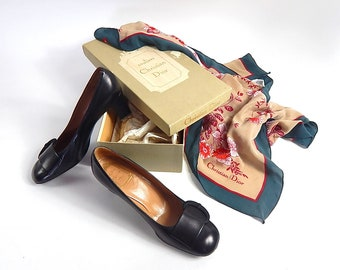 Vintage Christian Dior Shoes in Original Box w/Scarf!
