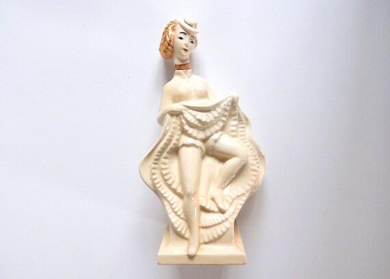 Souvenirs de France Figurine Paris /'French Cancan/' Rouge