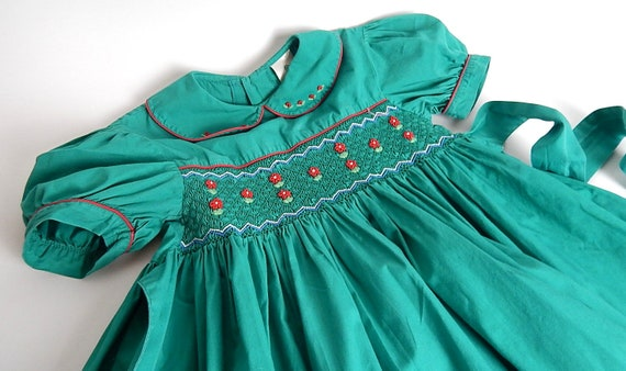 Child's Vintage Hand Smocked Dress Size 6