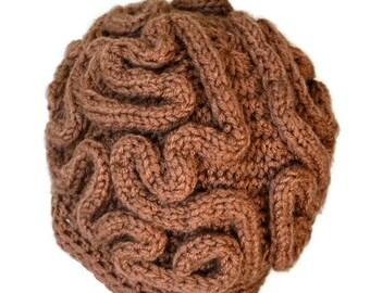 Brain Hat,Brain Beanie,thinking cap,Unisex crochet Beanie,Mens Crochet Beanie,Women hat, Beanie, winter Beanie,Handmade,Gift Under 50 - SALE