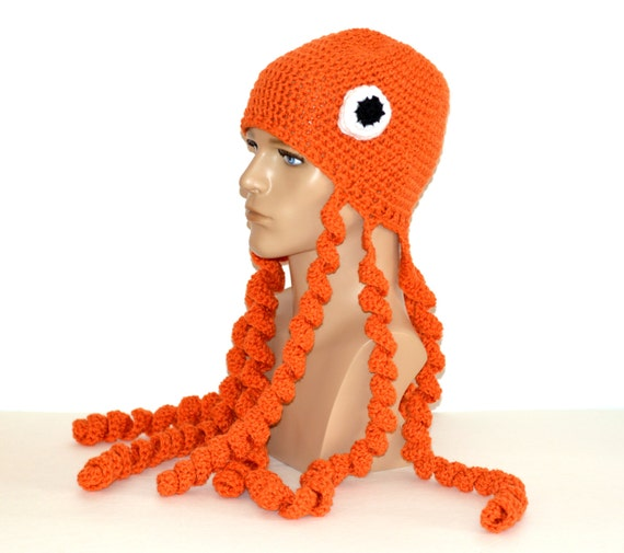 Oktopus Hut Octopus Mütze Oktopus Tracht Octopus Häkeln Etsy
