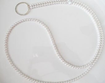 d1153795cf1a Essential White Swarovski Pearl Eyeglass Lanyard Necklace Glasses Holder