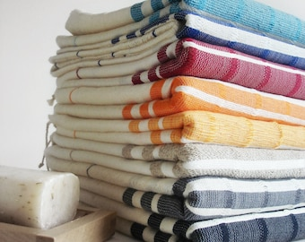 The BEST Quality Turkish BATH Towel Peshtemal -  Bamboo - Navy Blue