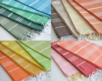SALE   BathStyle / Classic / Gray White Beige Black / Turkish Towels, Peshtemal, Spa Towel, Pool, Beach Towel, Fouta, bridesmaid gift.