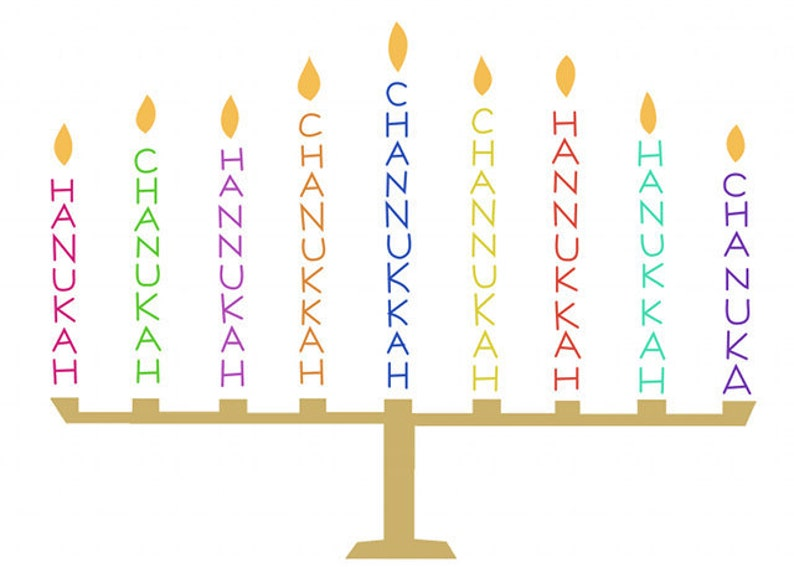 Funny Hanukkah Card Menorah Greeting Card Blank Chanukah image 0