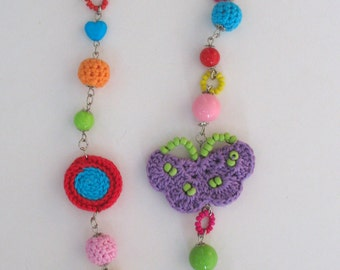 CLEARANCE SALE - Summer Fresh Colorful Crocheted Necklace
