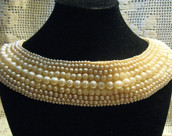 Made in Japa Vintage Fancy Beaded Collar