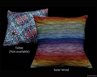 NEW! Extremely-Limited Edition Designer Throw-Pillow Slip-Covers of your fave Flameless Fabrics