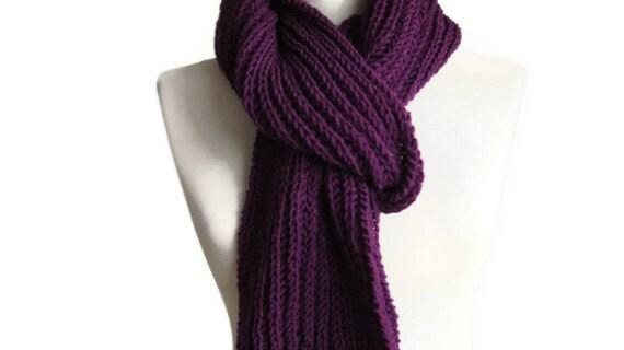 Foulard violet, hiver tricot écharpe, écharpe en tricot violet, foulard  femme, foulard homme, foulards unisexes edba1b59843