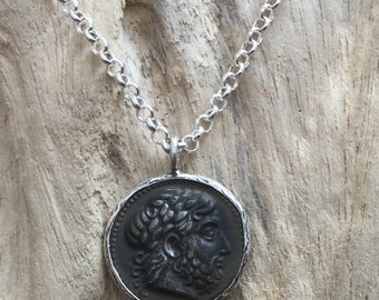 Ancient Greek Coin Pendant Necklace