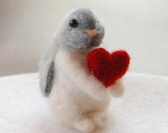 Valentine Bunny, Valentines Day Gifts For Her, Valentines Day Gift Ideas For Her, Felted Bunny, Bunny Lover Gift, Needle Felted Bunnies