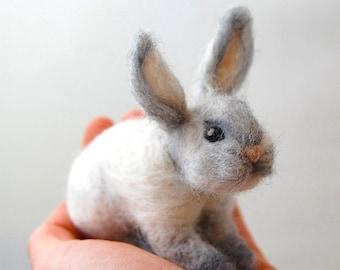 Needle Felted Animals Felt Animals Needle Felt Bunny Kids Gifts Needle Felted Bunny Wool Felt Bunny Felted Rabbit Felt Toys Kids Toys