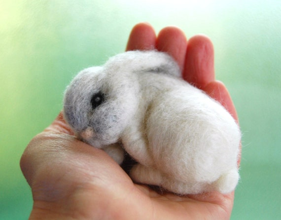 Image of: Kung Fu Image Etsy Bunnies Baby Bunny Bunny Rabbit Baby Naald Vilt Bunny Slapen Etsy
