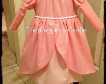 Disney Ariel Pink Princess Dress / Costume / Girls/Child's/Toddler Casual Cotton Pull Over Dress