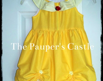 Disney Belle / Beauty and The Beast Princess Dress / Costume / Girls/Child's/Toddler Casual Cotton Pull Over Dress