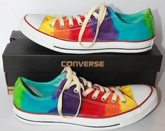 0aca6f07bc3 Tie dye Youth Size Converse All Star Chuck Taylor Shoes Low Top and High  Top Custom