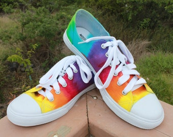 f6f2b0f14d2 Tie Dye Low Top Shoes Rainbow Converse Knock off SALE